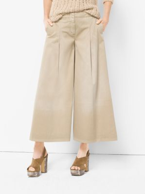 Pleated Cotton Culottes  by Michael Kors