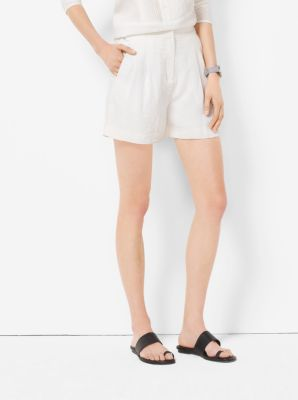 High-Waist Pleated Shorts  by Michael Kors