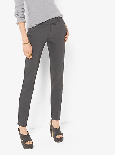 Pantaloni slim in lana stretch by Michael Kors