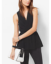 Sleeveless Cinched-Waist Top