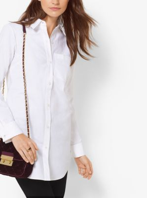 Cotton-Poplin Shirt by Michael Kors