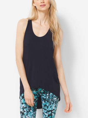 Active Draped-Back Tank Top by Michael Kors