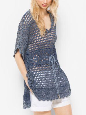 Crochet Cotton Tunic  by Michael Kors