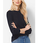 Ribbed Cotton and Silk Sweater