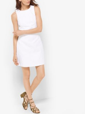 Cotton-Blend Jacquard Dress by Michael Kors