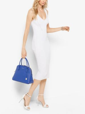 Ribbed V-Neck Sweater Dress by Michael Kors