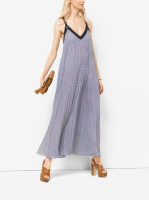 Pleated Georgette Maxi Dress by Michael Kors