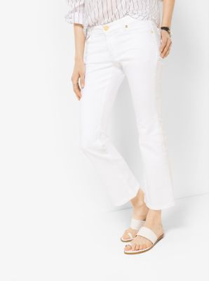 Cropped Denim Flares by Michael Kors