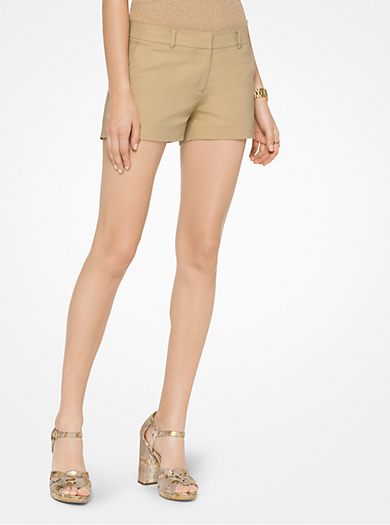 Stretch-Cotton Shorts by Michael Kors