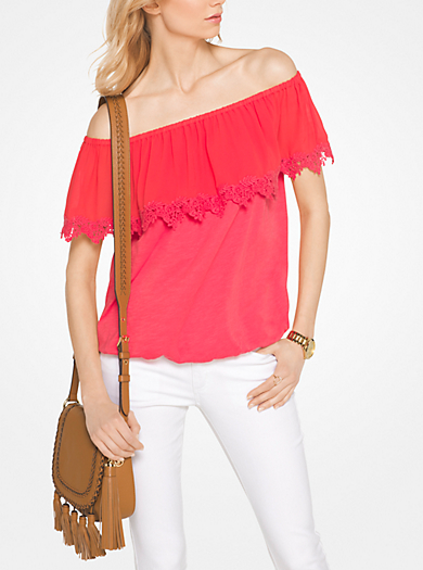 Cotton Off-The-Shoulder Top by Michael Kors