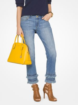 Fringed Jeans by Michael Kors