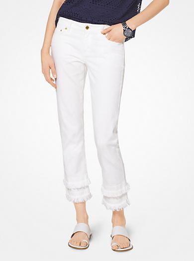 Frayed Hem Jeans by Michael Kors