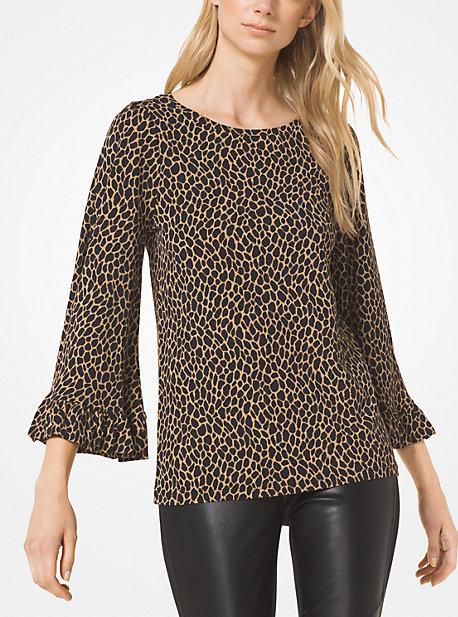 Haut Leopard Avec Ourlet A Volant