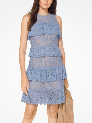 마이클 마이클 코어스 레이스 원피스 - 샴브레이 Michael Michael Kors Tiered Corded Lace Dress,CHAMBRAY
