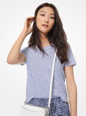 마이클 마이클 코어스 스트라이프 코튼 반팔티 Michael Michael Kors Striped Cotton T-Shirt