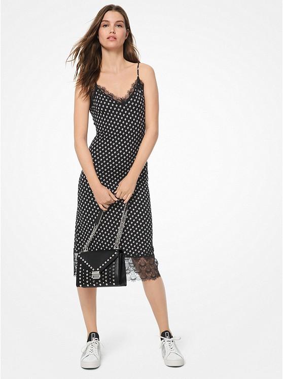 Dot Matte-Jersey Slip Dress | Michael Kors