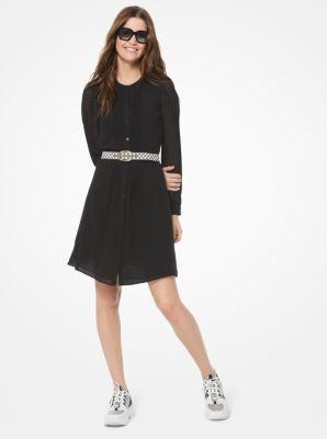 마이클 마이클 코어스 셔츠원피스 Michael Michael Kors Georgette Shirtdress,BLACK