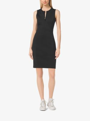 Zip-Front Scuba Dress, Petites by Michael Kors