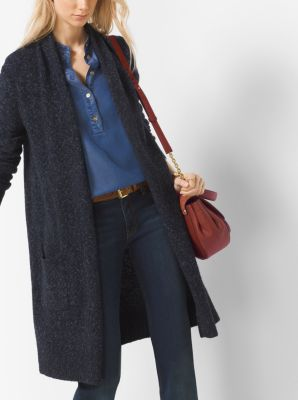 Draped Tweed Cardigan, Plus Size by Michael Kors
