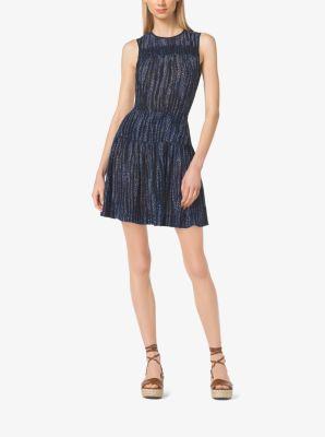 Floral-Print Smocked Dress, Plus Size  by Michael Kors