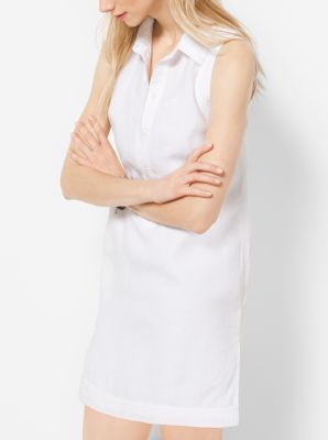 Linen Shirtdress, Plus Size by Michael Kors