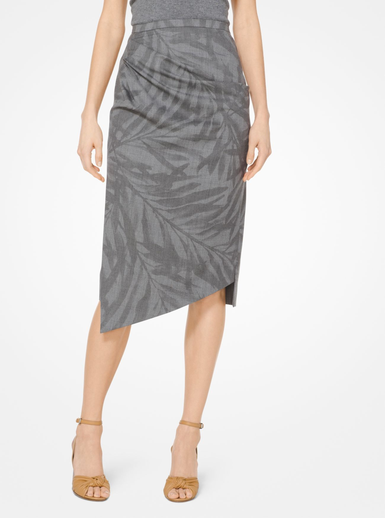 black draped grey a embroidered drapes skirt greenish with jacket