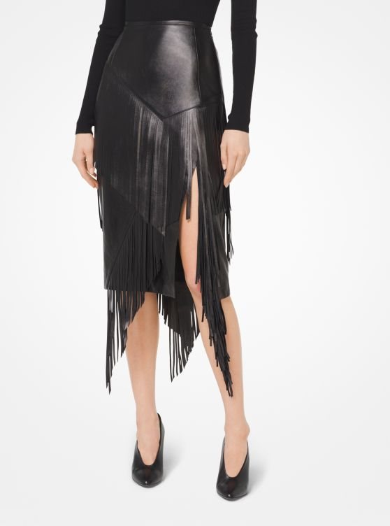 Plongé Fringed Skirt