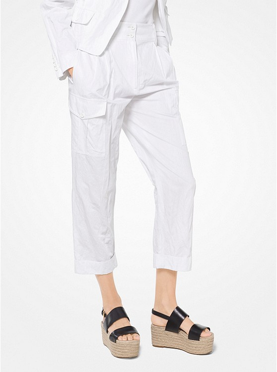 Crushed Cotton Cargo Pants
