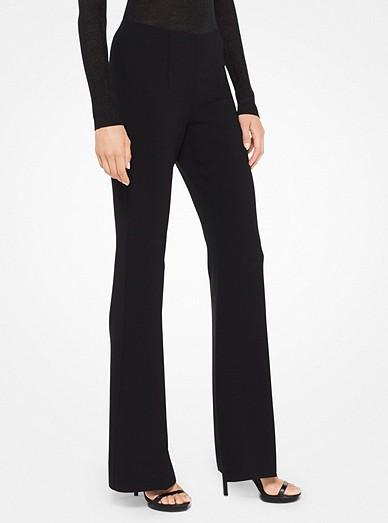 1f7a066c889001 Stretch-crepe Flared Pants | Michael Kors