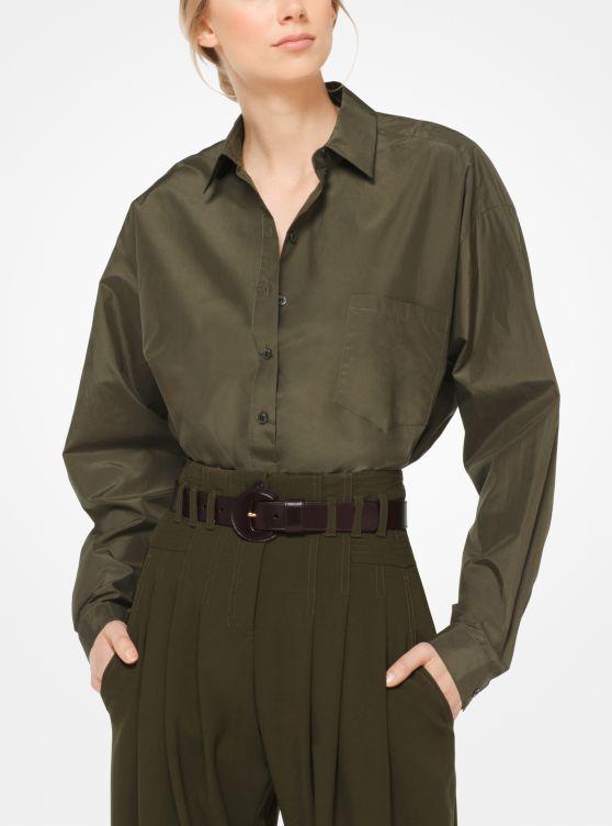Silk and Cotton Taffeta Blouse