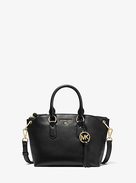 마이클 마이클 코어스 Michael Michael Kors Elson Small Pebbled Leather Satchel,BLACK