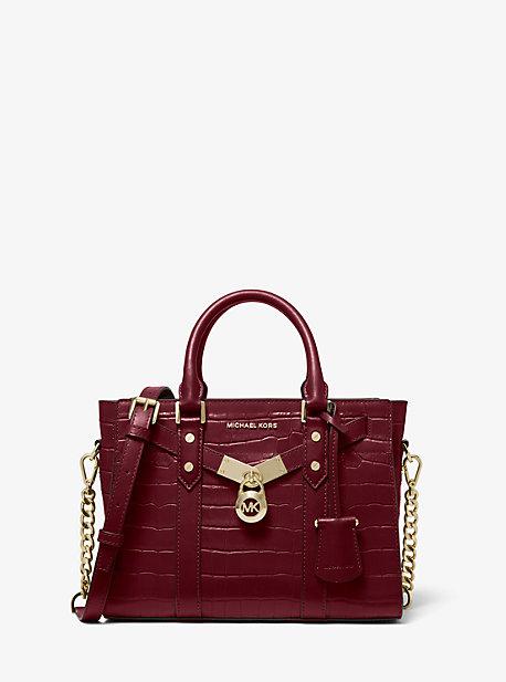 Petit sac à main Nouveau Hamilton en cuir gaufré à motif crocodile