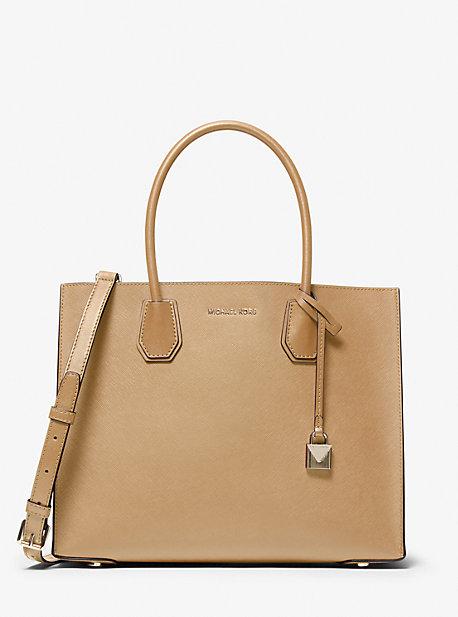 Mercer Large Saffiano Leather Tote Bag   Michael Kors