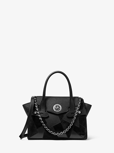 Carmen Small Patchwork Saffiano Leather Belted Satchel | Michael Kors