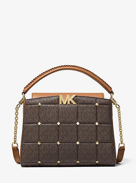 마이클 마이클 코어스 사첼백 Michael Michael Kors Karlie Medium Studded Quilted Logo Satchel