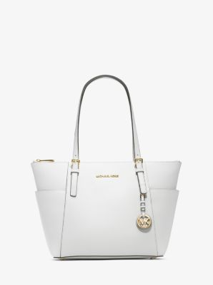 7ef804cd26e6 Jet Set Large Saffiano Leather Top-Zip Tote Bag | Michael Kors