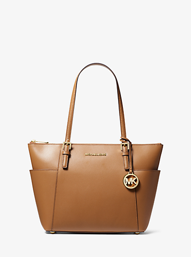 b366b173d30b Jet Set Large Saffiano Leather Top-Zip Tote Bag. michael michael kors ...