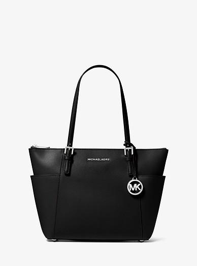Jet Set Saffiano Leather Top zip Tote Bag | Michael Kors