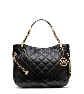 ad1bc034cfd2 Susannah Large Quilted Leather Tote   Michael Kors