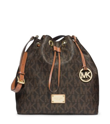 Jules Drawstring Logo Large Shoulder Bag | Michael Kors