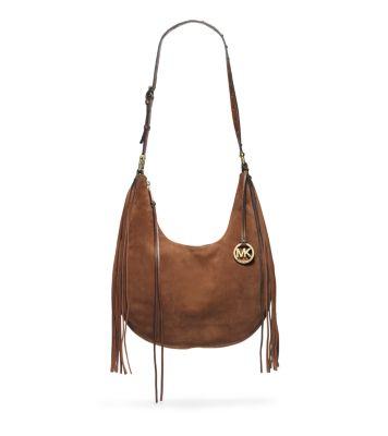 b2e365ad71f3 Rhea Suede Large Shoulder Bag | Michael Kors