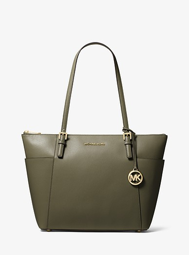 bab42a7570fd Jet Set Large Saffiano Leather Top-zip Tote Bag | Michael Kors