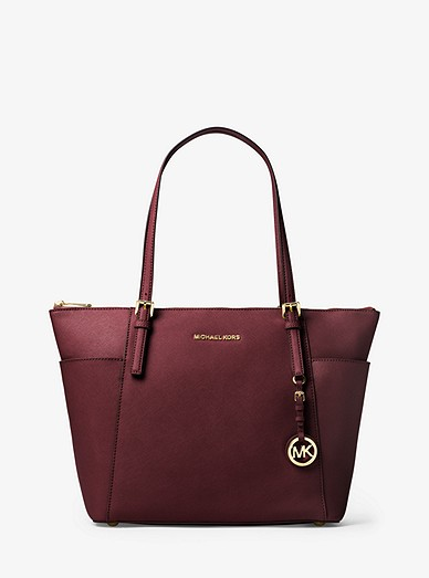 Jet Set Large Top Zip Saffiano Leather Tote