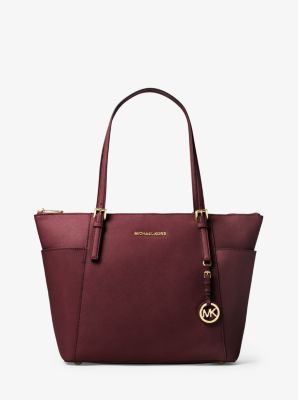 87e96e727889 Jet Set Large Saffiano Leather Top-Zip Tote Bag | Michael Kors