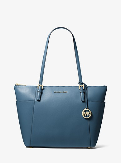 75316d4b5640 Jet Set Large Saffiano Leather Top-zip Tote Bag | Michael Kors