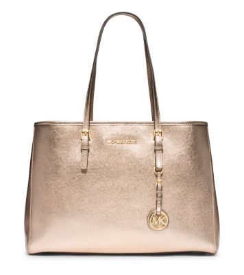 096425967d7a Jet Set Travel Large Metallic Leather Tote