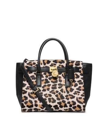 hamilton traveler leopard hair calf large satchel michael kors rh michaelkors com