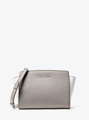 fc4f7128217f2d Selma Medium Color-Block Saffiano Leather Crossbody | Michael Kors
