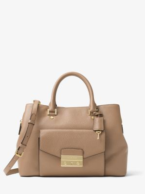 e87fa4439aec Haley Large Leather Satchel | Michael Kors
