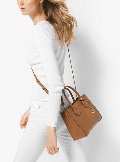 4d046450de078 Mercer Medium Pebbled Leather Crossbody Bag. MICHAEL Michael Kors